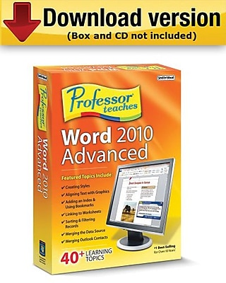 Professor Teaches Word 2010 Advanced for Windows (1-User) [Download]