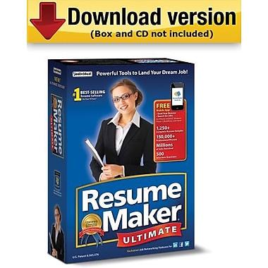 ResumeMaker Ultimate 6 pour Windows (1 utilisateur) [Téléchargement]