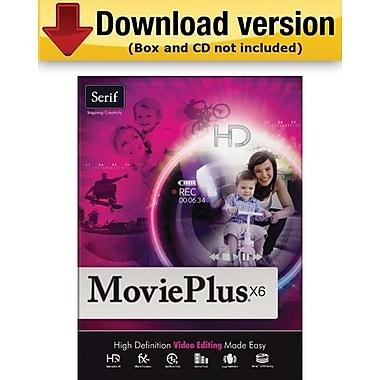 Serif – MoviePlus X6 pour Windows (1 utilisateur) [Téléchargement]
