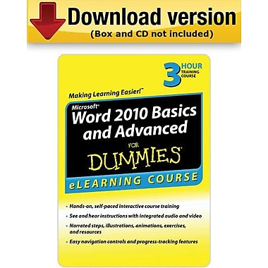 Word 2010 Basics & Advanced For Dummies for Windows (1-User)