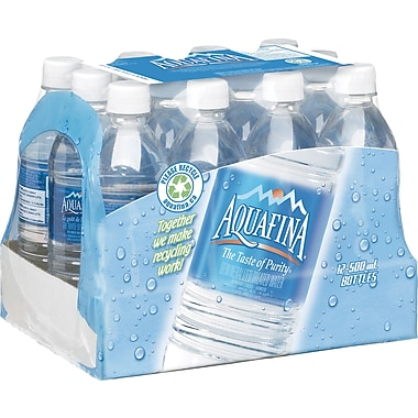 Aquafina Water, 500 mL Bottles, 12-Pack
