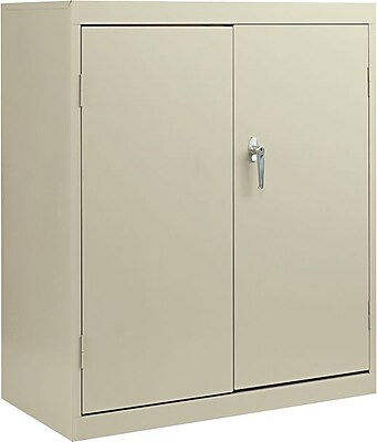 Alera® Economy Assembled Storage Cabinet with Fixed Shelves, Putty, 42