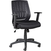 Alera® Eikon Mesh Chair With T-Bar Arms, Black