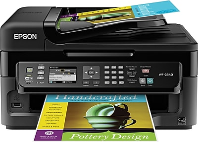 epson workforce wf 2540 color inkjet all in one printer staples rh staples com Ink Epson All in One Nozzle Check Epson Workforce 600