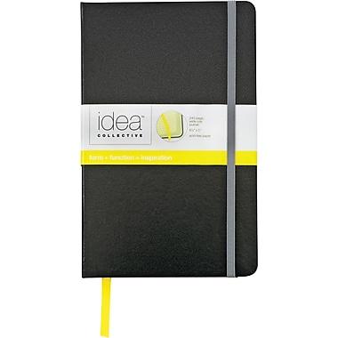 Idea Collective® Large Hardbound Journal, Wide Rule, Plain Black