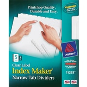Avery® Index Maker® Clear Label Dividers with White Narrow Tabs