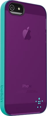 Belkin Grip Candy Sheer Case for iPhone 5, Blue/Purple Lightning