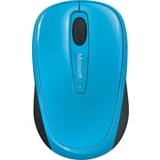 Microsoft Wireless Mobile Mouse 3500, BlueTrack USB Wireless Mouse, Cyan Blue (GMF-00273)