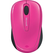 Microsoft Wireless Mobile Mouse 3500,  BlueTrack USB Wireless Mouse, Magenta Pink (GMF-00278)