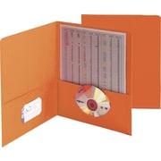 "Smead Two Pocket Portfolios, Orange, 1/2"" Capacity, 11"" x 8 1/2"", 25/Bx"