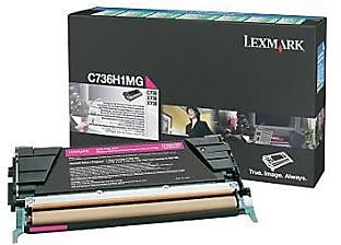 Lexmark Magenta Toner Cartridge (X748H1MG), High Yield, Return Program