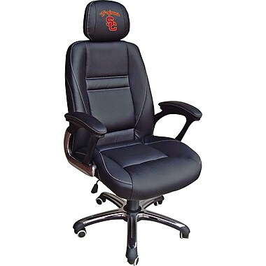 Wild Sports NCAA Leather Executive Chair, USC Trojans