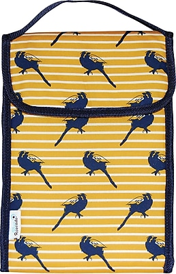Blue Avocado Lunch Bag, Yellow Birds