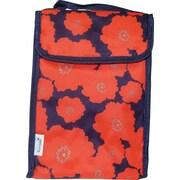 Blue Avocado Lunch Bag, Orange Flowers