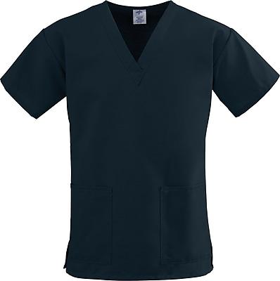 Medline ComfortEase Women Large V-Neck Scrub Top, Black (8800DKWL)