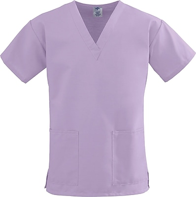 Medline ComfortEase Women XL V-Neck Scrub Top, Lavender (8800JLVXL)
