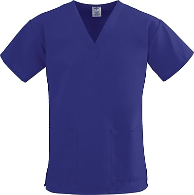 Medline ComfortEase Women XL V-Neck Scrub Top, Purple (8800JPPXL)