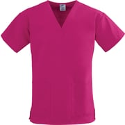 Medline ComfortEase Women 2XL V-Neck Scrub Top, Ruby (8800JRBXXL)