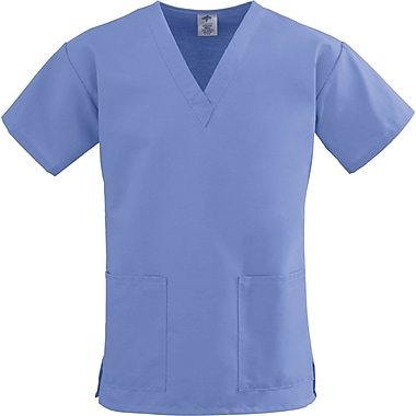 Medline ComfortEase Women XS V-Neck Scrub Top, Ceil Blue (8800JTHXS)
