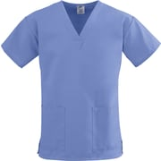 Medline ComfortEase Women Large V-Neck Scrub Top, Ceil Blue (8800JTHL)