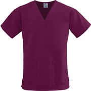 Medline ComfortEase Women 2XL V-Neck Scrub Top, Wine (8800JWNXXL)