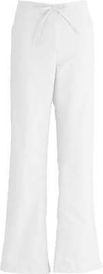 Medline ComfortEase Women Small Modern Fit Cargo Scrub Pant, White (8865XTQS)