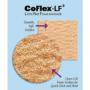 Co-Flex® LF2 Latex-free Non-sterile Cohesive Bandages, Tan, 5 yds L x 2