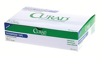 Curad® Waterproof Adhesive Tapes, 10 yds L x 1