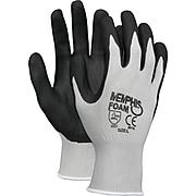 Memphis™ Economy Foam Nitrile Gloves, Small, Gray/Black, 12 Pairs