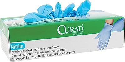 Curad® Nitrile Exam Gloves, Small, Blue, 100/Box