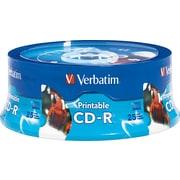 Verbatim® - CD-R 52x 700 Mo/80 min., blancs imprimables jet d'encre, paq. cyl./25