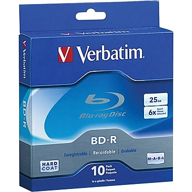 Verbatim® BD-R 25GB, 10-Pack Spindle Box
