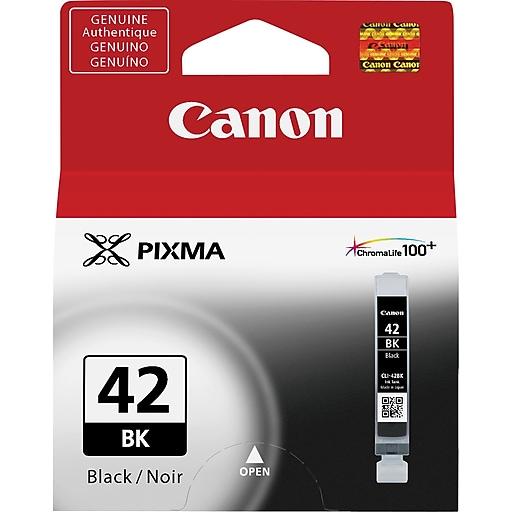 canon cli 42bk black ink cartridge 6384b002 staples. Black Bedroom Furniture Sets. Home Design Ideas