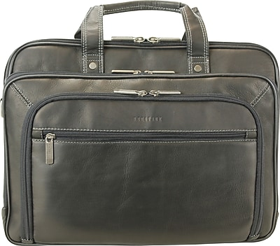 heritage leather portfolio  computer case  black