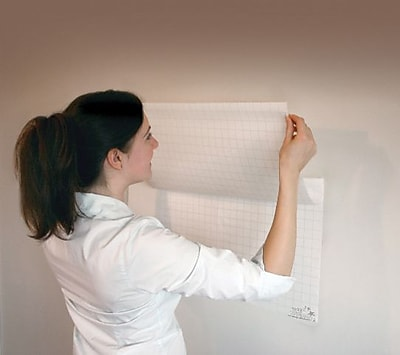 Magic Whiteboards Gridded Magic Whiteboard Sheets, 31 1/2