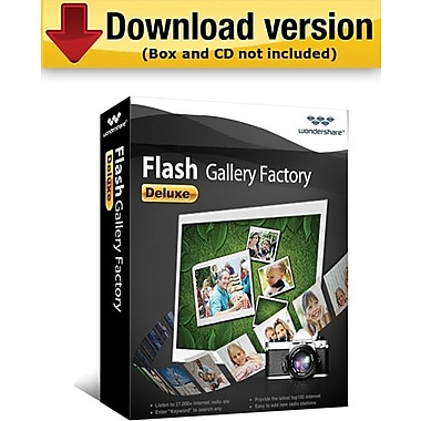 Wondershare Flash Gallery Factory Deluxe for Windows (1-User) [Download]