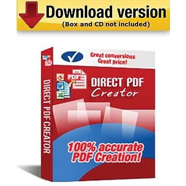 Logiciel de création de fichiers PDF Direct PDF Creator pour Windows (1 utilisateur) [téléchargement]