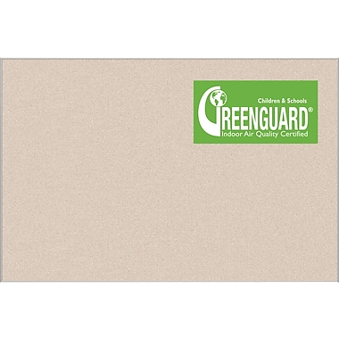 Best-Rite® 3' X 4' Ultra Trim Pebbles Vinyl Bulletin Board, Cream