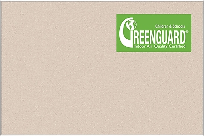 Best-Rite Ultra-Trim Pebbles Vinyl Bulletin Board, Cream, 1.5' x 2'