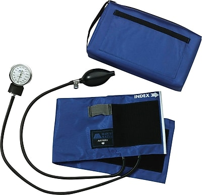 Medline Compli-Mates Aneroid Sphygmomanometers, Royal Blue, Adult