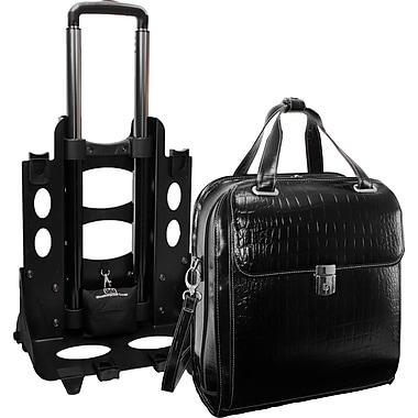 McKlein Siamod Monterosso Collection Novembre Ladies Wheeled Laptop Case, Black