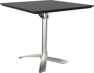 balt folding square bistro table, black | staples