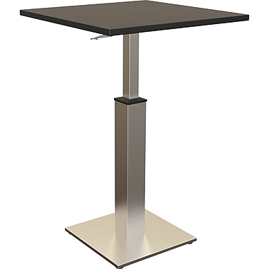 Balt Adjustable Height Square Bistro Table, Black