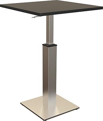 Balt Adjustable Height Square Bistro Table, Black