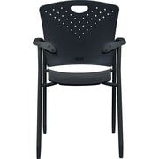 Balt Oui Stacking Chair, Black, 2/pk