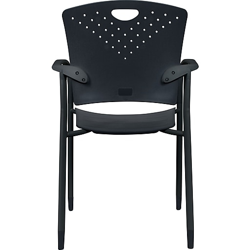 Tremendous Balt Oui Stacking Guest Chairs Plastic Black Seat 30W X 22 1 2D Back 30W X 19H 2 Ct Bralicious Painted Fabric Chair Ideas Braliciousco