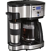 Hamilton Beach The Scoop 2-Way Brewer Coffee Maker, Stainless Steel (49980Z)