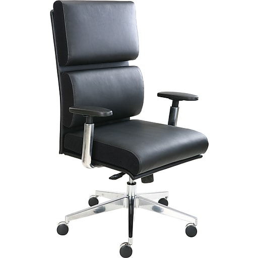 tempur pedic leather computer and desk office chair black fixed