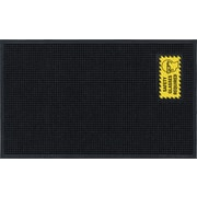 """M + A Matting Waterhog™ Sign Mat """"SAFETY GLASSES REQUIRED"""", Vertical, Cleated (1482411)"""