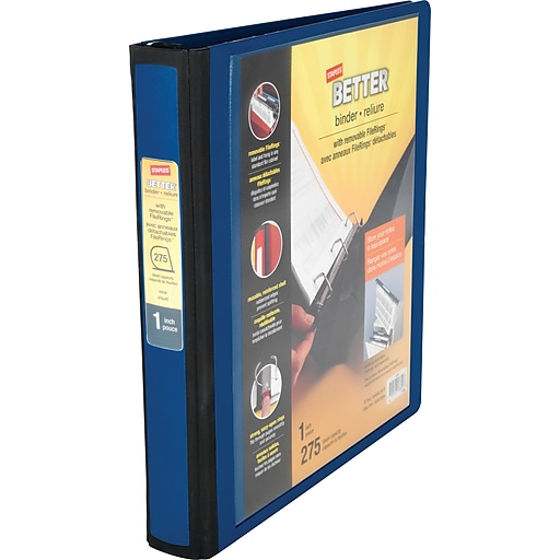 1 staples better binder with removable filerings staples